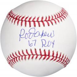 Rod Carew Autographed Baseball with 67 ROY Inscription