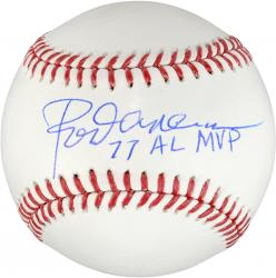 Rod Carew Minnesota Twins Signed Baseball - 77 AL MVP