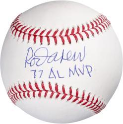 Rod Carew Minnesota Twins Signed Baseball - 77 AL MVP