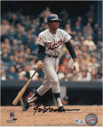 Rod Carew Minnesota Twins Autographed 8'' x 10'' Batting Photograph - Mounted Memories