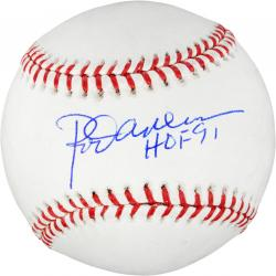 Rod Carew Autographed Baseball HOF 91