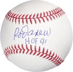 """Rawlings Rod Carew Minnesota Twins Autographed Baseball with """"HOF 91"""" Inscription"""