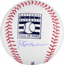 Rod Carew California Angels Autographed HOF Logo Baseball