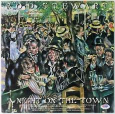 Rod Stewart A Night On The Town Signed Album Cover PSA/DNA #W46794