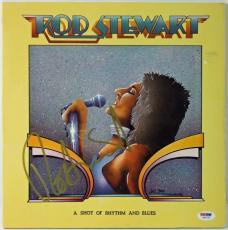 Rod Stewart A Shot Of Rhythm & Blues Signed Album Cover W/ Vinyl PSA/DNA #W46793