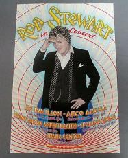Rod Stewart Another Planet Enter. Poster Signed By Famous Artist Randy Tuten