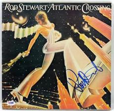 Rod Stewart Atlantic Crossing Signed Album Cover W/ Vinyl Psa/dna #x31263
