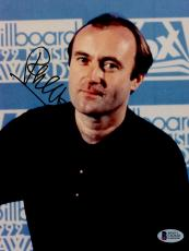 "Phil Collins Autographed 8""x 10"" Billboard Music Awards Photograph - BAS COA"