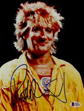 "Rod Stewart Autographed 8""x 10"" Yellow Jacklet With S Photograph - BAS COA"