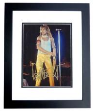 Rod Stewart Autographed Concert 8x10 Photo BLACK CUSTOM FRAME