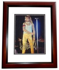 Rod Stewart Autographed Concert 8x10 Photo MAHOGANY CUSTOM FRAME