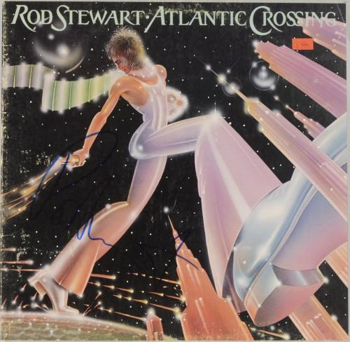 Rod Stewart Autographed Atlantic Crossing Album Cover - PSA/DNA COA