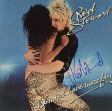 Rod Stewart Autographed Blondes Have More Fun Album Cover - PSA/DNA COA