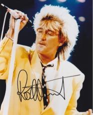 Rod Stewart Autographed Concert 8x10 Photo