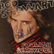 Rod Stewart Autographed Foolish Behaviour Album Cover - PSA/DNA COA