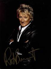 Rod Stewart Autographed Gold Signed 9x12 Glossy Photo UACC RD COA AFTAL