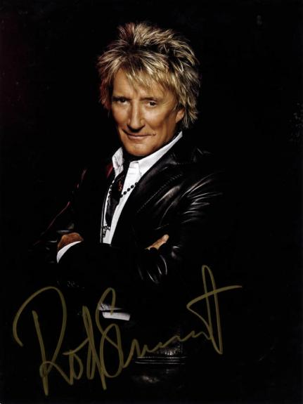 Rod Stewart Autographed Gold Signed 9x12 Photo UACC RD COA AFTAL