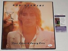 Rod Stewart Autographed Record Album (foot Loose & Fancy Free) - Jsa Coa!