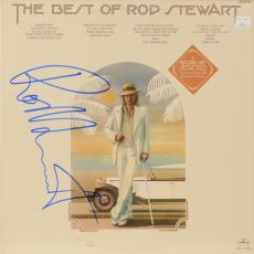 Rod Stewart Autographed The Best of Rod Stewart Album Cover - PSA/DNA COA