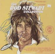 Rod Stewart Autographed The Rod Stewart Collection Album Cover - PSA/DNA COA