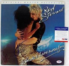 Rod Stewart Blondes Have More Fun Signed Album Cover W/ Vinyl PSA/DNA #P43519