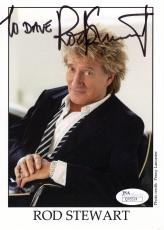 ROD STEWART HAND SIGNED 5x7 COLOR PHOTO      ROCK+ROLL LEGEND    TO DAVE     JSA