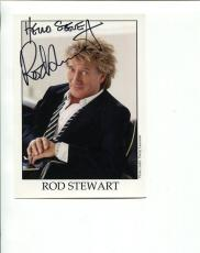 ROD STEWART HAND SIGNED 5x7 COLOR PHOTO+COA      AWESOME POSE    SIGNED TO STEVE