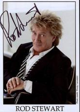 ROD STEWART HAND SIGNED 5x7 COLOR PHOTO+COA         ROCK AND ROLL LEGEND