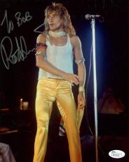 ROD STEWART HAND SIGNED 8x10 COLOR PHOTO      BEST POSE EVER     TO BOB     JSA