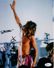 ROD STEWART HAND SIGNED 8x10 COLOR PHOTO      IN CONCERT      TO MICHAEL     JSA