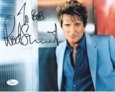ROD STEWART HAND SIGNED 8x10 COLOR PHOTO+COA      AWESOME POSE    TO BOB