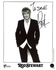 ROD STEWART HAND SIGNED 8x10 PHOTO+COA     ROCK+ROLL LEGEND   TO DAVE