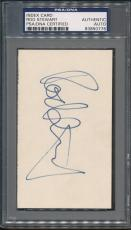 Rod Stewart Index Card PSA/DNA Certified Authentic Auto Autograph Signed *0776