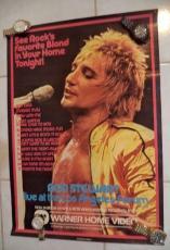 Rod Stewart Music Legend 1981 Warner Home Video 19x27 Poster Authentic Rare