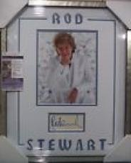 Rod Stewart Music Legend Signed Autographed 8x10 Double Matted & Framed Jsa Coa
