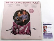 Rod Stewart Signed 2-Record Set Album The Best of Rod Stewart Vol. 2 w/ JSA AUTO