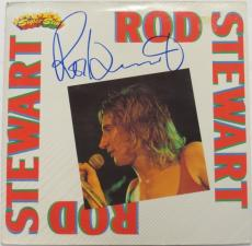 Rod Stewart Signed Authentic Autographed Album Cover PSA/DNA #AC55776