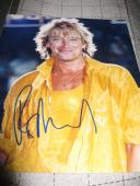 ROD STEWART SIGNED AUTOGRAPH 8x10 PHOTO IN PERSON COA YOUNG ROD IN PERSON COA D
