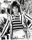 ROD STEWART SIGNED AUTOGRAPHED 8x10 PHOTO CELEBRATED 70'S ROCK ICON BECKETT BAS