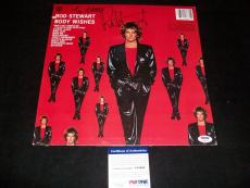 "ROD STEWART signed autographed ""BODY WISHES"" LP RECORD PSA/DNA COA!"