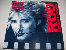 """ROD STEWART signed autographed """"CAMOUFLAGE"""" LP RECORD BECKETT COA (BAS)"""