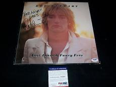 "ROD STEWART signed autographed ""FOOT LOOSE & FANCY FREE"" LP RECORD PSA/DNA COA!"