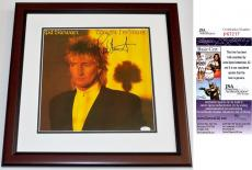 Rod Stewart Signed - Autographed Tonight I'm Yours LP Vinyl Album Cover - MAHOGANY CUSTOM FRAME - JSA Certificate of Authenticity