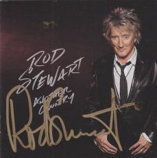 Rod Stewart Signed CD Cover Booklet w/JSA COA N33113 Another Country