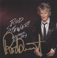 Rod Stewart Signed CD Cover Booklet w/JSA COA N33114 Another Country