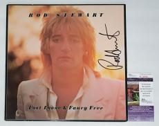 Rod Stewart Signed Foot Loose & Fancy Free Record Album Jsa Coa K18825