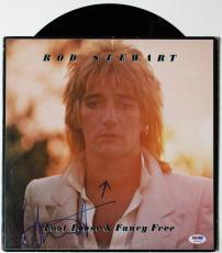 "Rod Stewart Signed ""foot Loose & Fancy Free"" Vinyl Album Psa/dna Coa W11934"