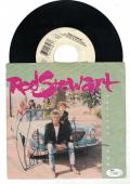 Rod Stewart Signed Forever Young 45rpm Cover W/ Vynyl Lp Record Auto Jsa Cert