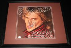 Rod Stewart Signed Framed 1980 Foolish Behaviour Record Album Display JSA