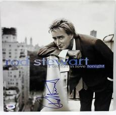 Rod Stewart Signed If We Fall In Love Tonight Album Flat Psa #x31262